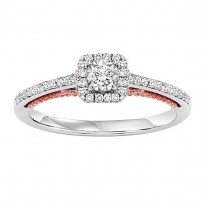 14K Diamond 1/3 ctw Engagement Ring Complete