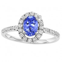 14K Tanzanite & Diamond Engagement Ring