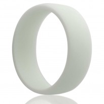 White Silicone Wedding Band
