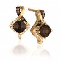 Le Vian Smoky Quartz and Chocolate Diamond Earrings
