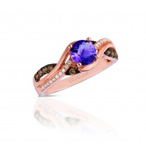 Le Vian Amethyst and Chocolate Diamond Ring