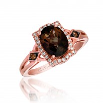 Le Vian Smokey Quartz and Chocolate Diamond Ring