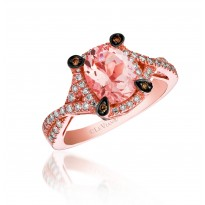 Le Vian Morganite and Chocolate Diamond Ring