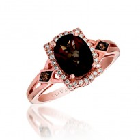 Le Vian Smokey Quartz Diamond Ring