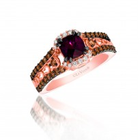Le Vian Garnet and Chocolate Diamond Ring