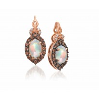 Le Vian Opal and Chocolate Diamond Earrings