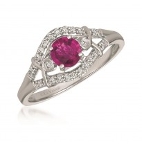 Le Vian Ruby and Chocolate Diamond Ring