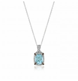 Le Vian Chocolate Aquamarine and Diamond Pendant